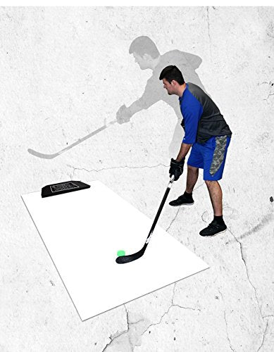 Hockey shooting pad with rebounder