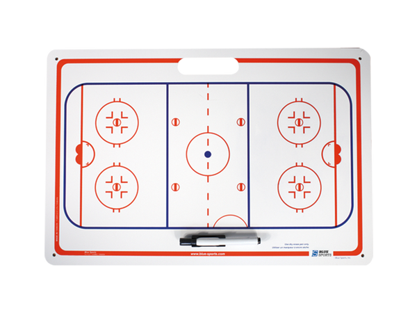 Hockey Dry Erase Board W/Suctions 16X24