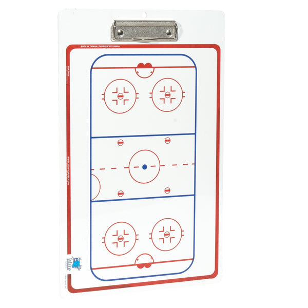 "Hockey Dry Erase Board 10"" x 16"" Double Sided"
