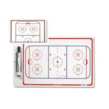 "Hockey Dry Erase Board 10"" x 16"" Double Sided 2"