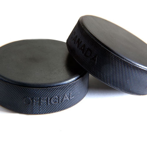 6 oz Black Hockey Pucks
