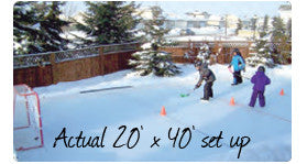 NiceRink 20 x 40 Backyard Hockey Rink-In-A-Box
