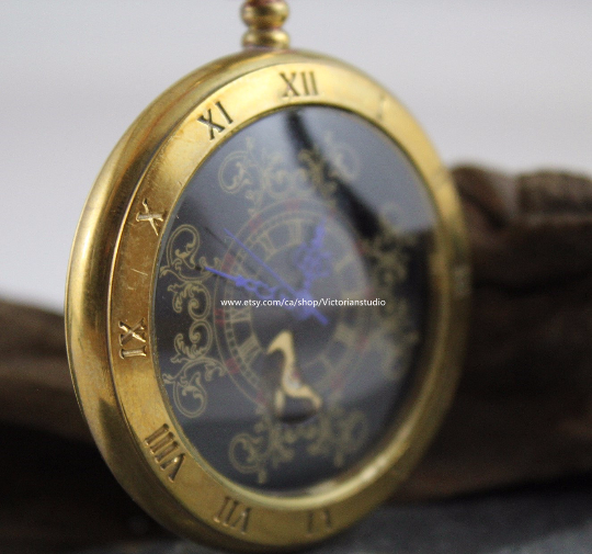 Antiqued Golden Tone Pocket Watch Copper Steampunk Winding Mechanical Vintage Pocket Watch- Father's Day Gift  MPW012