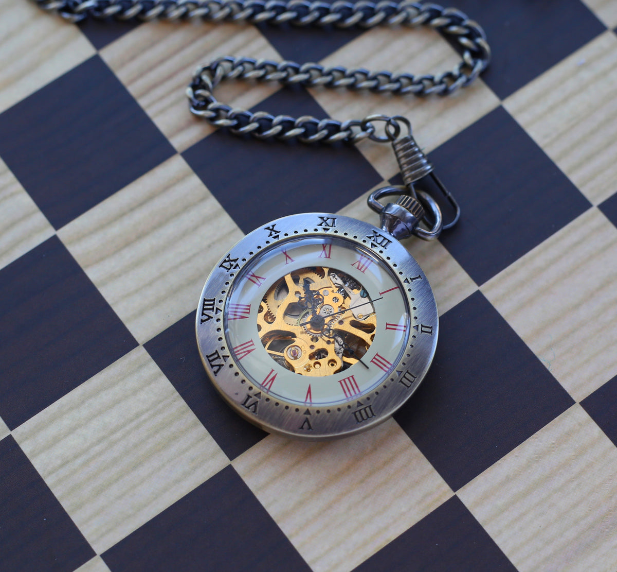 Prefect Wedding Gift Engravable Men's Pocket Watch Personalized Gift  Open Face Antique Gold Bronze Pocketwatch with chain wedding gifts for groomsmen