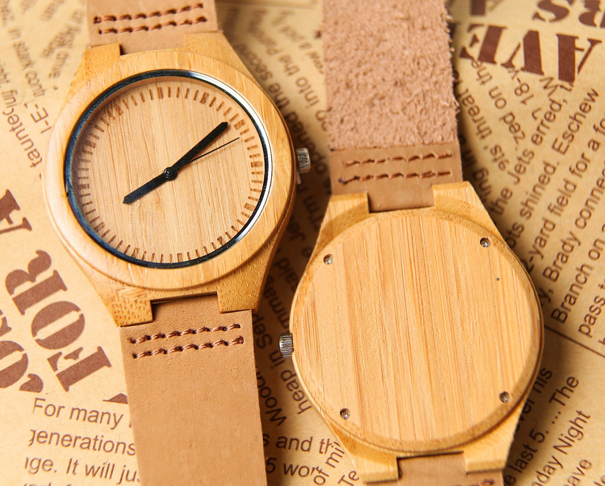 Unisex Wooden Wrist Watch With Engraving Option