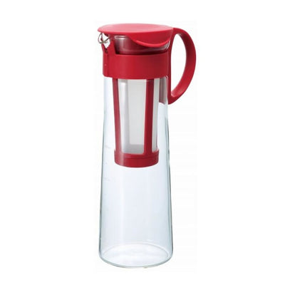 Cold Brew Coffee Pot Red 8 Cups 1 Liter