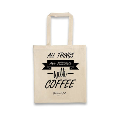 Dritan Alsela All things are possible with coffee Canvas Bag