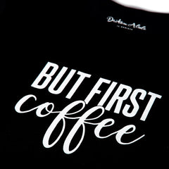 Dritan Alsela But first Coffee Men Shirt Black
