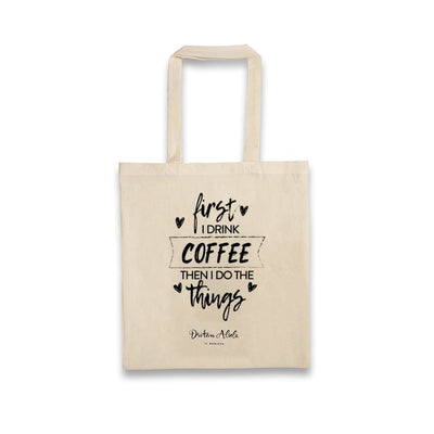Dritan Alsela First I drink coffee... Canvas Bag