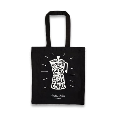 Dritan Alsela Moka Pot Canvas Bag Black