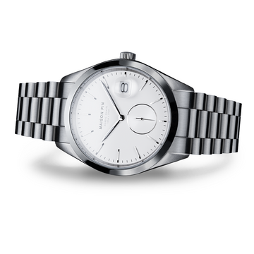 NORDIC QUARTZ 39mm, Steel, Chalk