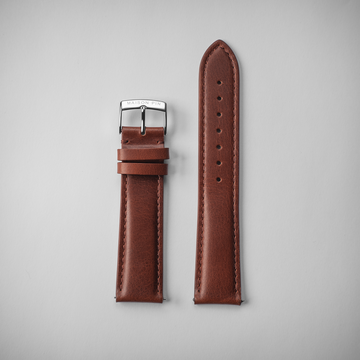 Brown leather - Steel
