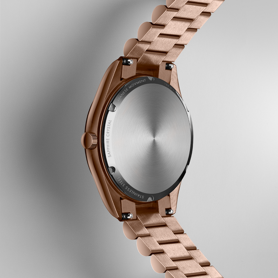 NORDIC QUARTZ 35mm, Rose gold, Chalk