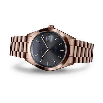 NORDIC QUARTZ 35mm, Rose gold, Charcoal