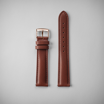 Brown leather - Rose Gold