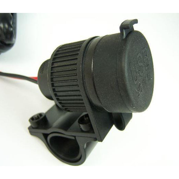 Dual USB Socket for Motorbikes 12-24V, for 22/25mm Handlebar - Touratech