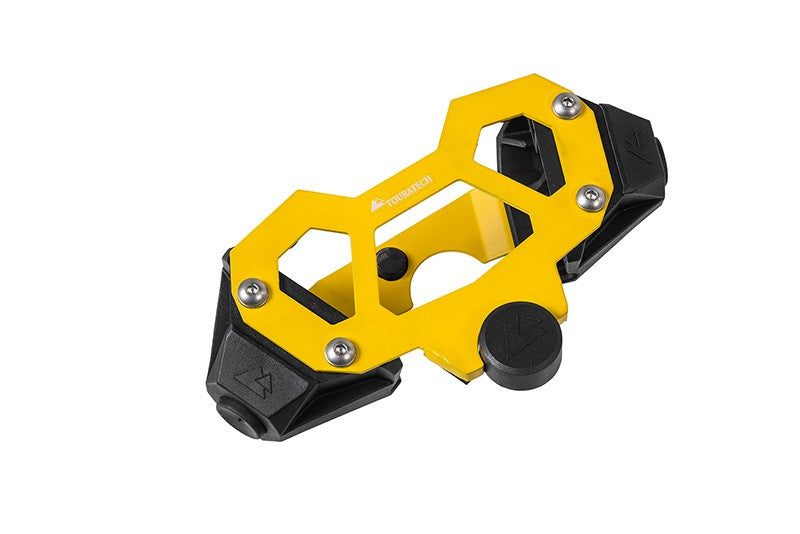 Hard Part Steering Stop for the BMW R1250GS Adv/R1200GS Adv(LC), Yellow - Touratech