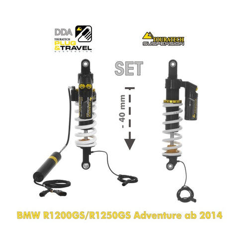 Suspension-SET Plug & Travel 40 mm Lowering for BMW R1200GS Adv(LC)/R1250GS Adv(2014+) - Touratech