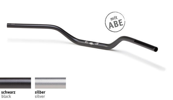 Handlebar 28.6mm Naked - X02 | Aluminium | Black/SIlver | (1.1/8th Inch) - Bike 'N' Biker