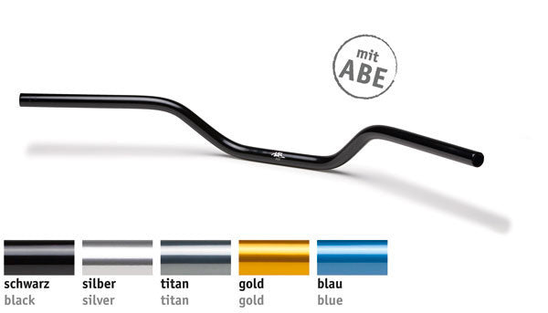 Handlebar 22mm Naked - A02 | Aluminium | 5 Colours | (7/8th Inch) - Bike 'N' Biker