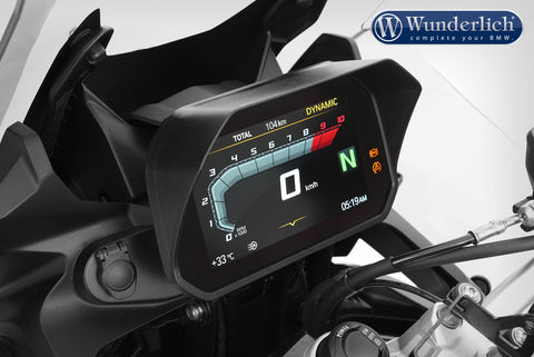 Wunderlich Glare Shield for Cockpit 6.5 Inch TFT - Connectivity Display - Black