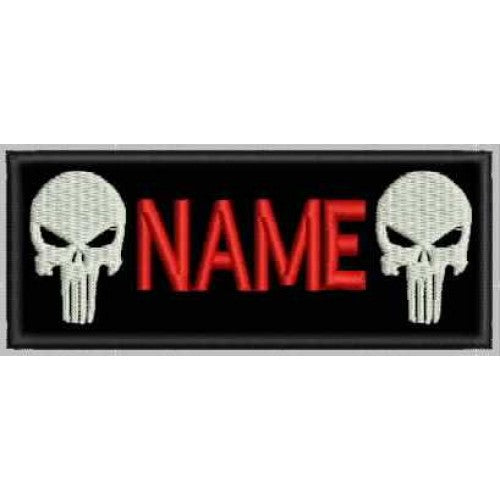 Punisher Name Patch - Bike 'N' Biker