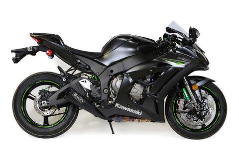 Single Alien Head Slip-On (3/4 System) Black ZX-10R (16-20) - Brock's Performance