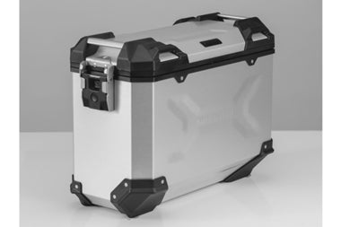 TRAX ADV Side case Aluminium 37 L Silver/Black - SW-Motech - Bike 'N' Biker