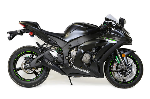 "Alien Head 2 Full System Black 14"" Muffler ZX-10R (16-20) - Brock's Performance"