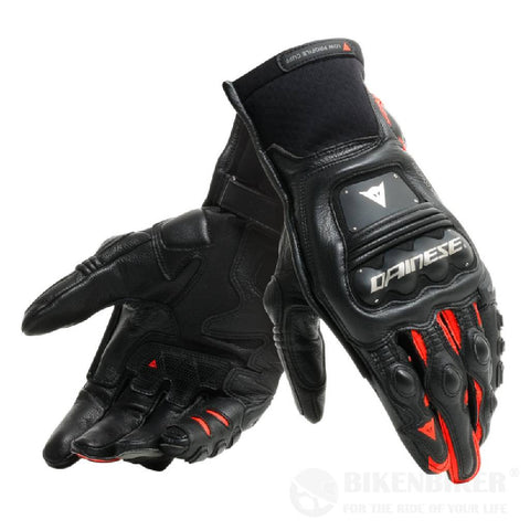 Steel-Pro In Gloves - Black/Fluo-red