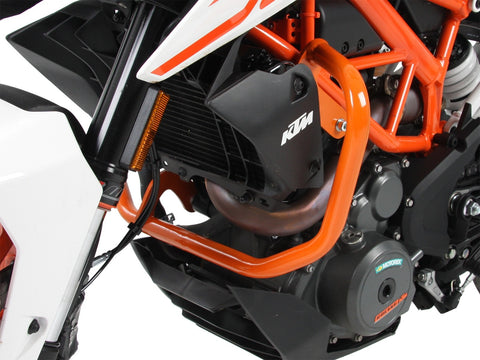 KTM 390 Duke Engine Protection bar orange Hepco Becker