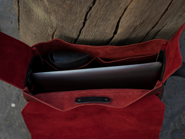 Messenger Bag - Cherry Red - Trip Machine Company