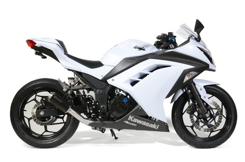 VZ9 Veloce Full System with Electro-Black Muffler Ninja 300 (13-17) - Brock's Performance