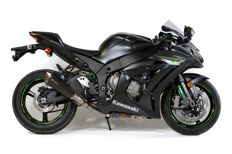 Predator Slip-On (3/4 System) (Black) Muffler ZX-10R (16-20) - Brock's Performance