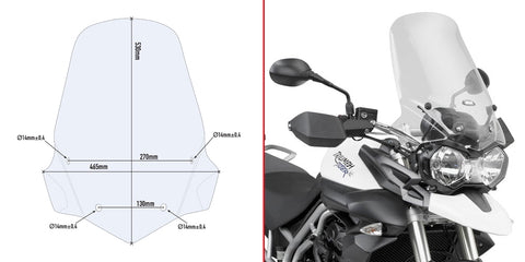 Windscreen for Tiger 800 (11-17) - Givi