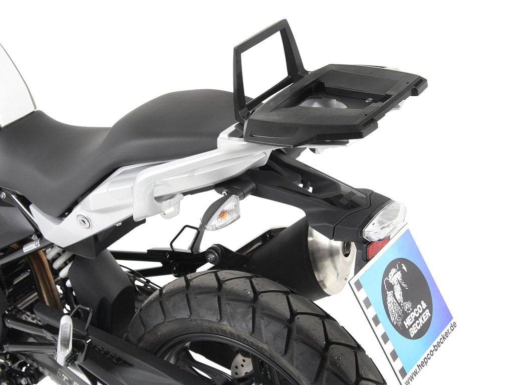 BMW G310GS Top case carrier - ALU Rack - Hepco & Becker