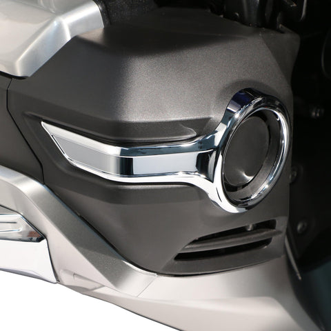 Chrome Fog Light Trims - Honda Goldwing - Ciro Goldstrike