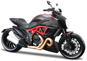 Maisto Ducati Diavel Carbon 1:18/1:12 Scale Model