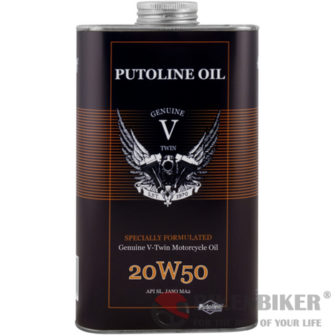 Putoline V-Twin 20W-50 Oil 1000ml - Bike 'N' Biker