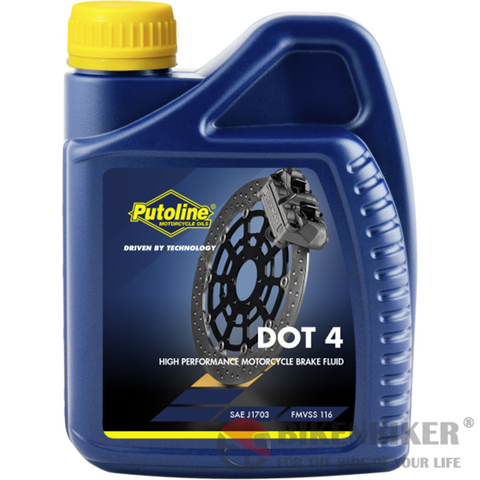 Putoline Brake Fluid DOT4 500 ml - Bike 'N' Biker