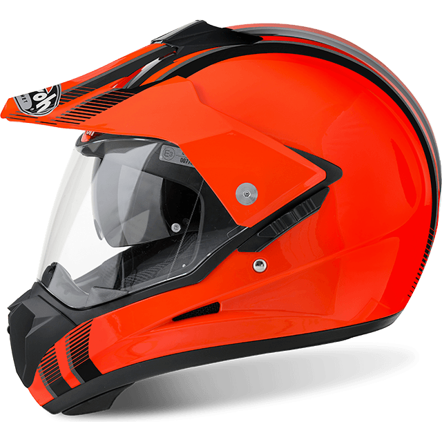 Airoh S5 Line Orange Gloss - Bike 'N' Biker