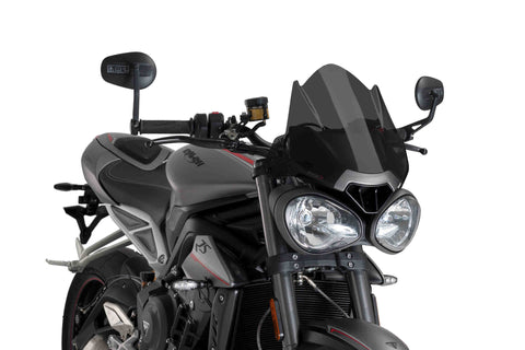 Naked New Generation Sport Windshield - Triumph Street Triple 765 / Speed Triple 1050 - Puig