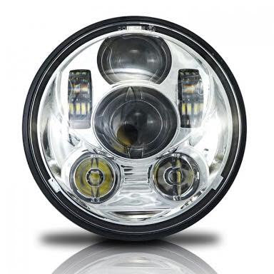 Vista 5.75 Inch LED Headlight - Xlights - Bike 'N' Biker