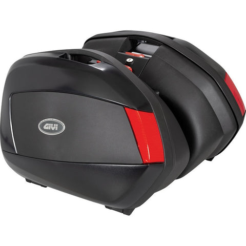 V35 Pair of Side Cases, with Red Reflectors - Givi