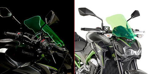 Windscreen for Kawasaki Z900 (Lime Green) - Givi