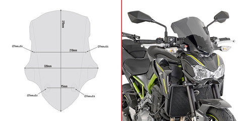 Windscreen for Kawaski Z900 (Smoked) - Givi