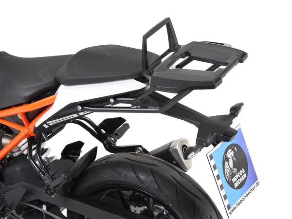 KTM 390 Duke Alu Rack Top case carrier black Hepco Becker - Bike 'N' Biker