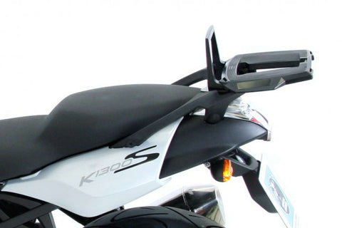 BMW K 1300 S Alu rack in combination with original top case carrier Hepco Becker - Bike 'N' Biker