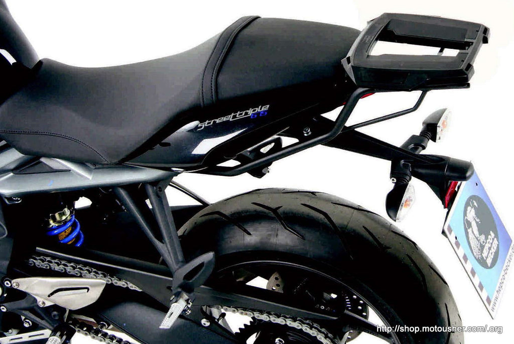 Street Triple 675 R Alu rack Top case carrier by Hepco becker