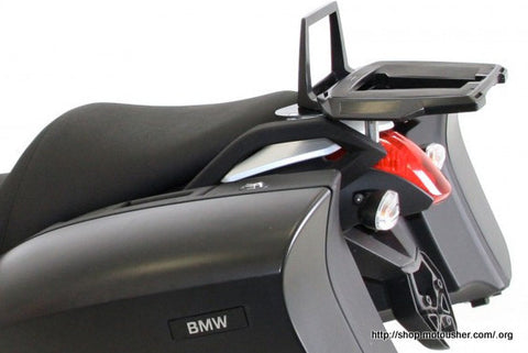 BMW R 1200 R Alu Rack in combination with original side carrier black Hepco Becker - Bike 'N' Biker